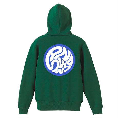 SWIRLING SUNS PULLOVER (GREEN) / ONLY  ( 2XL size )