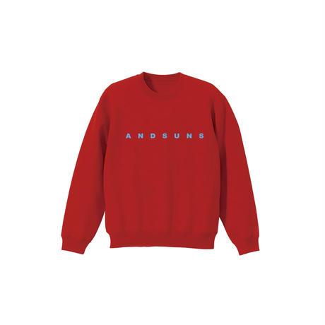 <KIDS> ANDSUNS CREWNECK (RED) / LAST ONLY ( XL・150cm )