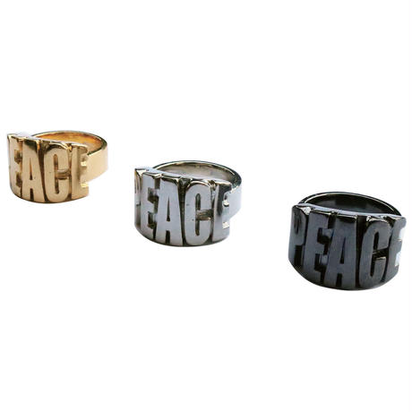 PEACE RING (BLACK)