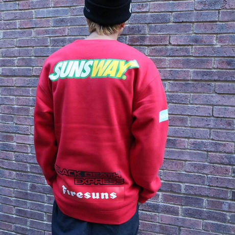 AS FOOTBALL TEAM CREWNECK (RED) / LAST ONLY  ( XL )
