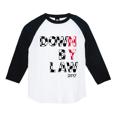 DOWN BY LAW RAGLAN (BLACK/WHITE)