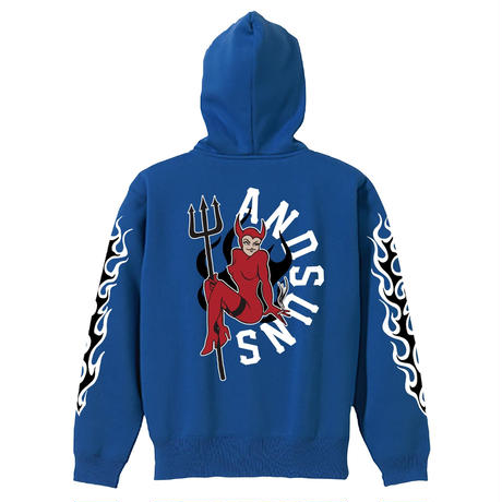 DEVIL SUNS PULLOVER (BLUE) / LAST ONLY ( XL size )