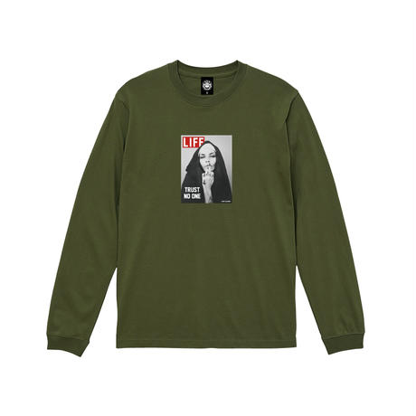 TRUST NO ONE LS TEE (OLIVE) / LAST ONLY  ( L )