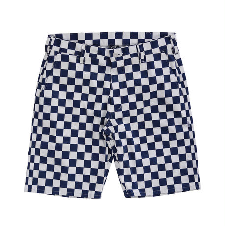 CHECKER SUNS SHORTS (NAVY) / Only L size