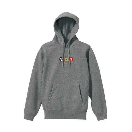 <KIDS> ICONS PULLOVER (HEATHER GREY)