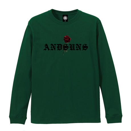 ROSE LS TEE (GREEN) / Only 2XL size
