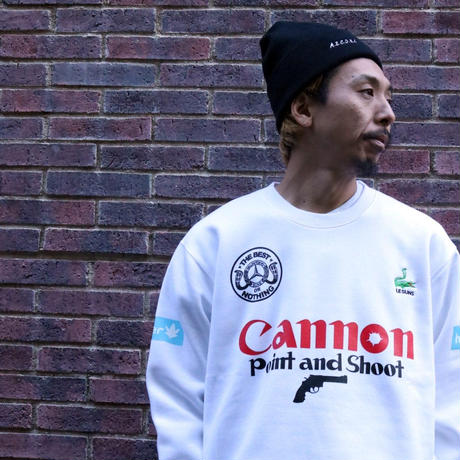 AS FOOTBALL TEAM CREWNECK (WHITE) / LAST ONLY  ( L )