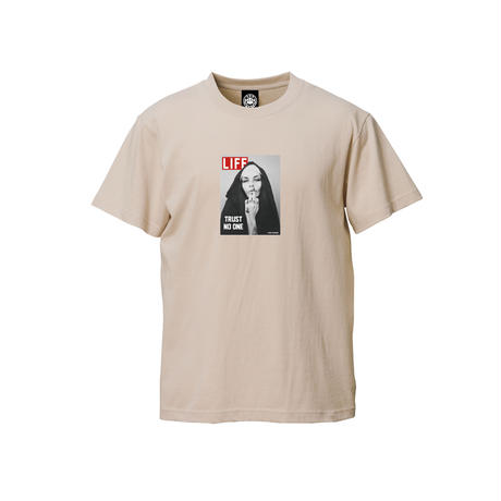 TRUST NO ONE SS TEE (SAND)  / Last Only 2XL size