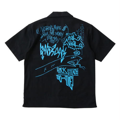DOODLED SUNS WOVEN ( BLACK/MULTI) / Last Only 2XL size