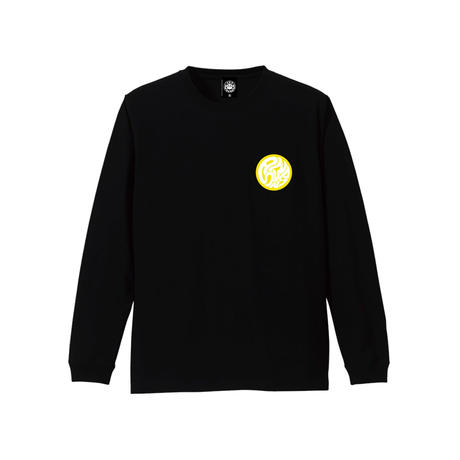 SWIRLING SUNS LS TEE (BLACK) / LAST ONLY  ( XL )