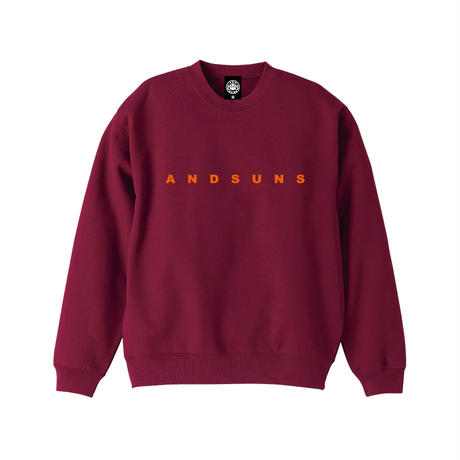 ANDSUNS CREWNECK (BURGUNDY) / LAST ONLY  ( XL size )