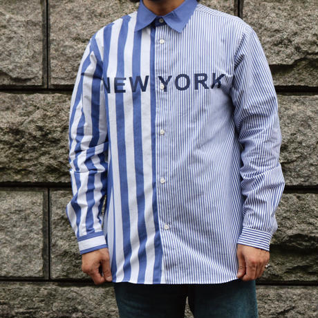 NYC STRIPE SHIRT (NAVY)