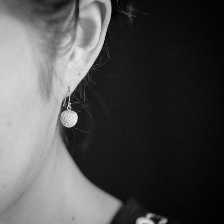 SILVER BRUNIA FRENCH HOOK EARRINGS / SB1_GF