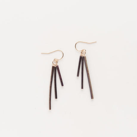 EUCALYPTUS FRENCH HOOK EARRINGS / EPT3_F_GF
