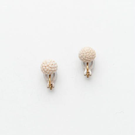 SILVER BRUNIA CLIP EARRINGS / E_SB1_S
