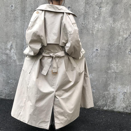 over loose trench coat