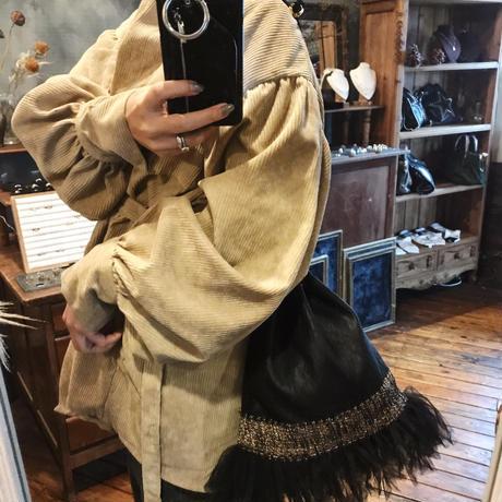 Drawstring bag(black gold)