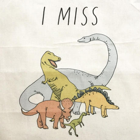 unseven (I MISS THE DINOSAURS ) エコバッグ