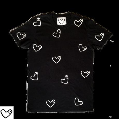 COCKHEART (ALL OVER PRINT)  Tシャツ/ブラック