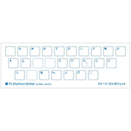 Ps shortcut sticker for Mac Ver.2.0 15mm Psショートカットステッカー for Mac Ver.2.0 15mm