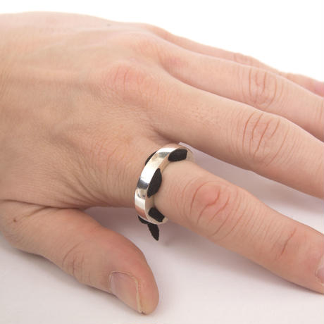 holelace ring silver