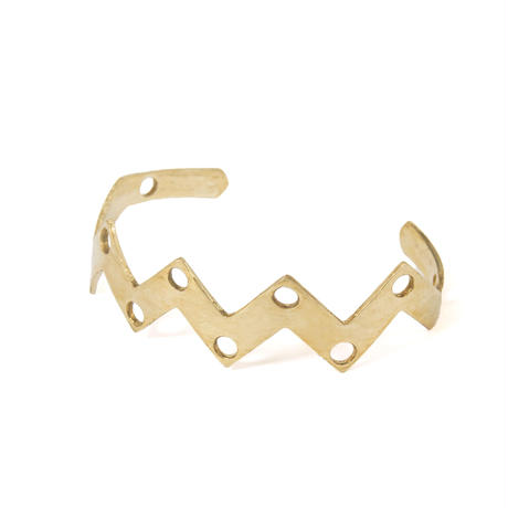 jaggy bangle brass