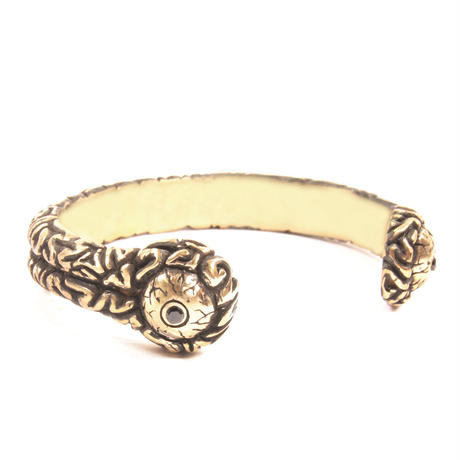brain bangle brass