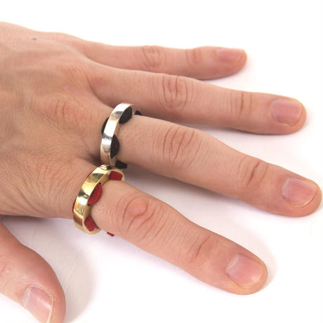 holelace ring brass