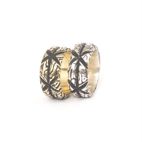 x brain ring silver