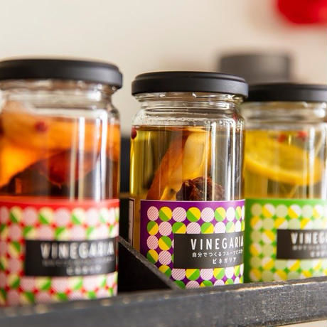 (お酢とセット)自分で作るフルーツビネガー VINEGARIA(ビネガリア)3種&お酢セット【箱付き】