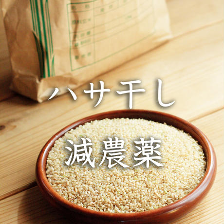 <定期便>【ハサ干し・減農薬】飛騨産コシヒカリ(玄米)【5kg】