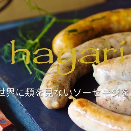 """自然派ソーセージ """"hayari"""" のソーセージとビールのペアリングセット【送料無料】"""