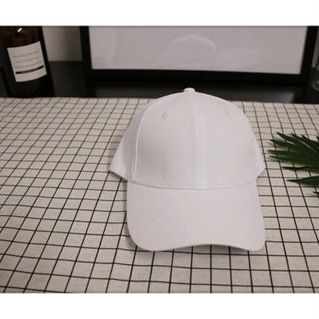 ブラック/ホワイト つば長ロングベーシックキャップ
