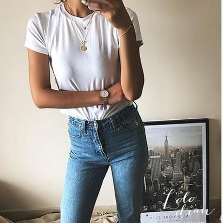 丸ネックベーシックTシャツ(4色)