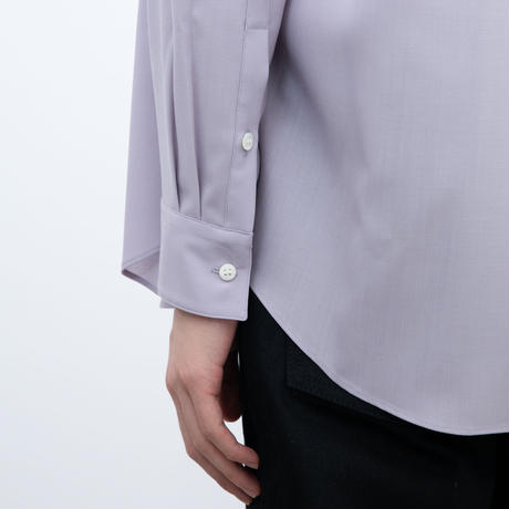【OVERCOAT】ウールシャツ(ラベンダー)