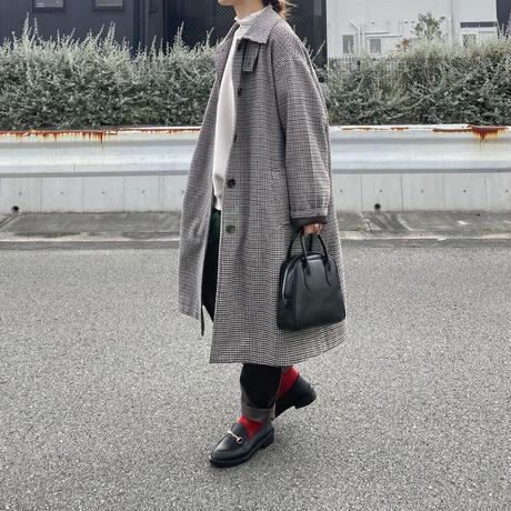 10月初旬入荷分   woolブレンドステンカラーチェックコート