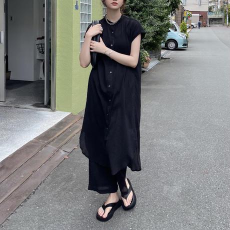 セットアップ(バンドカラ―楊柳OP/楊柳イージーパンツ)
