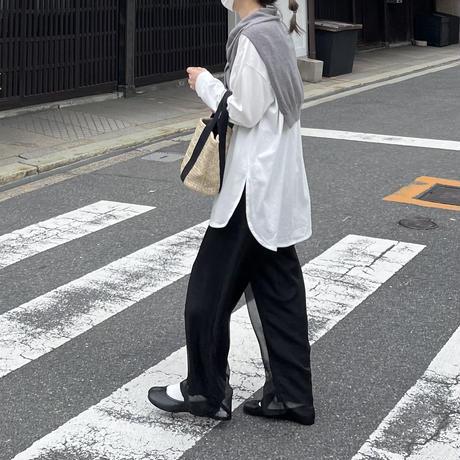 6月初旬~中旬入荷分 シアーレイヤードワイドパンツ