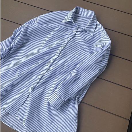 BIG PULLOVER ストライプシャツ