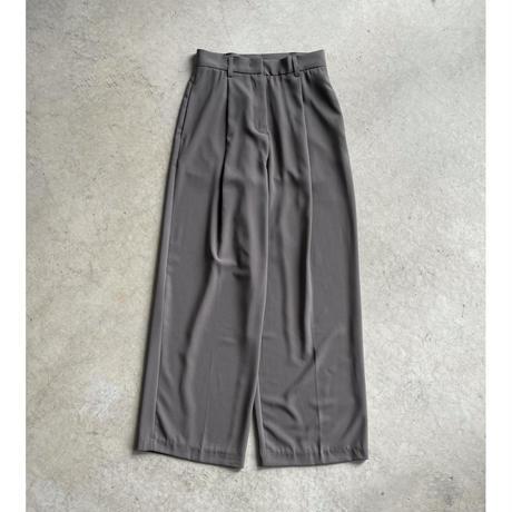 ワイドストレートスラックス gray-brown