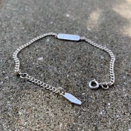 バーコードプレートチェーンブレスレット silver925(c_accessory-00651)