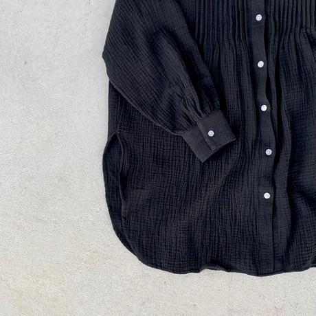 9月中旬入荷分   ピンタックガーゼスタンドカラーシャツ