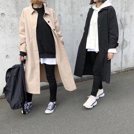 【sold out】ステンカラーコート beige/black