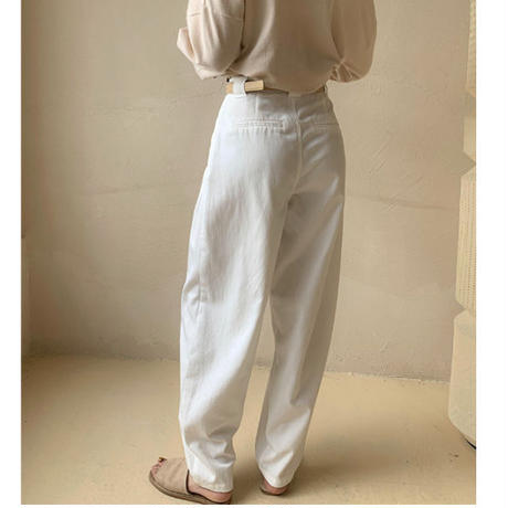 Tapered Tuck Pants white(00488)