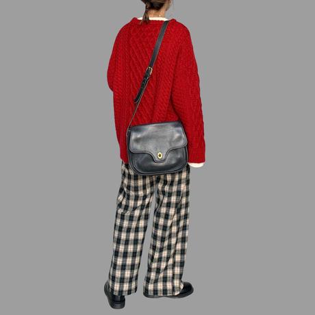 12月初旬~中旬入荷分 wool混タックワイドチェックパンツ(c_bottoms-00675-1/2)