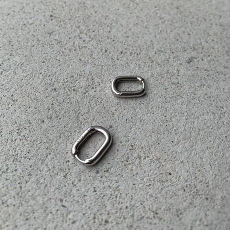 スクエアピアス silver925