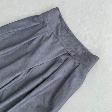 Front wrap Tuck pants(c_bottoms-00618-GY,BK)