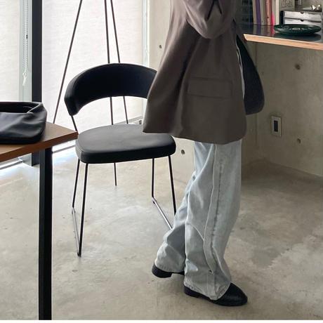 3ボタンジャケット gray-brown