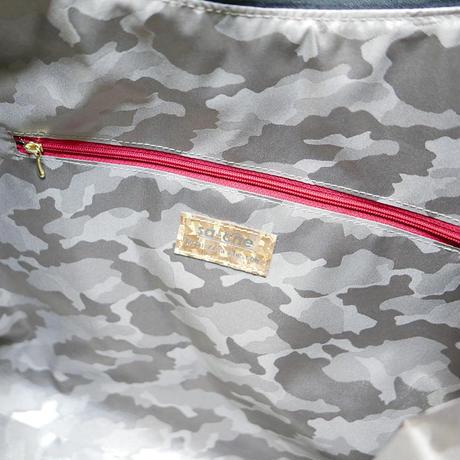 SA-CHE  レザーアウトポケット カモフラナイロン ビッグバッグ LIBERO A5433 /ネイビー