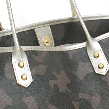 SA-CHE  カモフラージュトートバッグ ポーチ付  VOYAGE  グレー